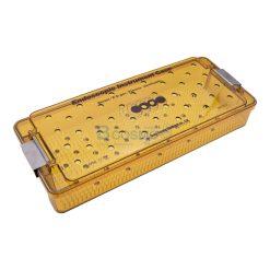 กล่องใส่เครื่องมือ นึ่งฆ่าเชื้อ พลาสติก Sung Kwan Endoscope Instrument case 370x150x70 mm. (KR)