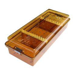 กล่องใส่เครื่องมือ นึ่งฆ่าเชื้อ พลาสติก Sung Kwan Laparoscopic Instrument case 635x255x155 mm. (KR)