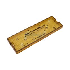 กล่องใส่เครื่องมือ นึ่งฆ่าเชื้อ พลาสติก Sung Kwan Micro Instrument 1 Floor Case 300x100x25 mm. (KR)