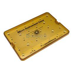 กล่องใส่เครื่องมือ นึ่งฆ่าเชื้อ พลาสติก Sung Kwan Micro Instrument 1 Floor Case 380x260x30 mm. (KR)