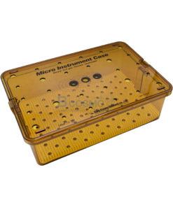 กล่องใส่เครื่องมือ นึ่งฆ่าเชื้อ พลาสติก Sung Kwan Micro Instrument 1 Floor Case 400x270x120 mm. (KR)