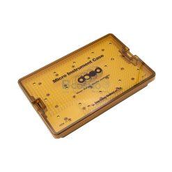 กล่องใส่เครื่องมือ นึ่งฆ่าเชื้อ พลาสติก Sung Kwan Micro Instrument 2 Floor Case 260x170x40 mm. (KR)