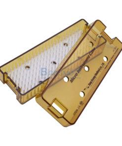 กล่องใส่เครื่องมือ นึ่งฆ่าเชื้อ พลาสติก Sung Kwan Micro Instrument Case 160x60x30 mm. (KR)