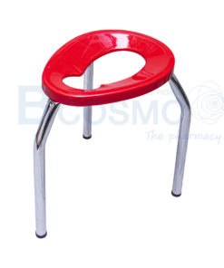 เก้าอี้นั่งถ่าย 3 ขาพับไม่ได้ ขนาดใหญ่ สีแดง 50 ซม.