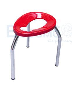 เก้าอี้นั่งถ่าย 3 ขาพับไม่ได้ ขนาดกลาง สีแดง 40 ซม.