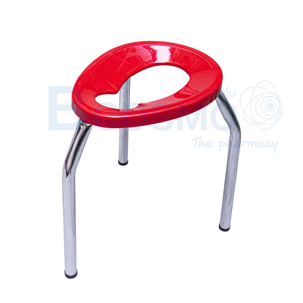 MT0105 M R เก้าอี้นั่งถ่าย 3 ขาพับไม่ได้ ขนาดกลาง สีแดง 40 ซม. 1