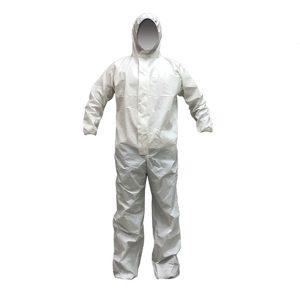 ชุดกันฝุ่นละอองสารเคมีแบบพิเศษ ANYSAFE SFJ300 SIZE L สีขาว