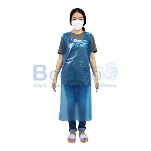 เอี๊ยมพลาสติกกันเปื้อน ขนาด 75 cm.x 135 cm. จำนวน 100 ชิ้น