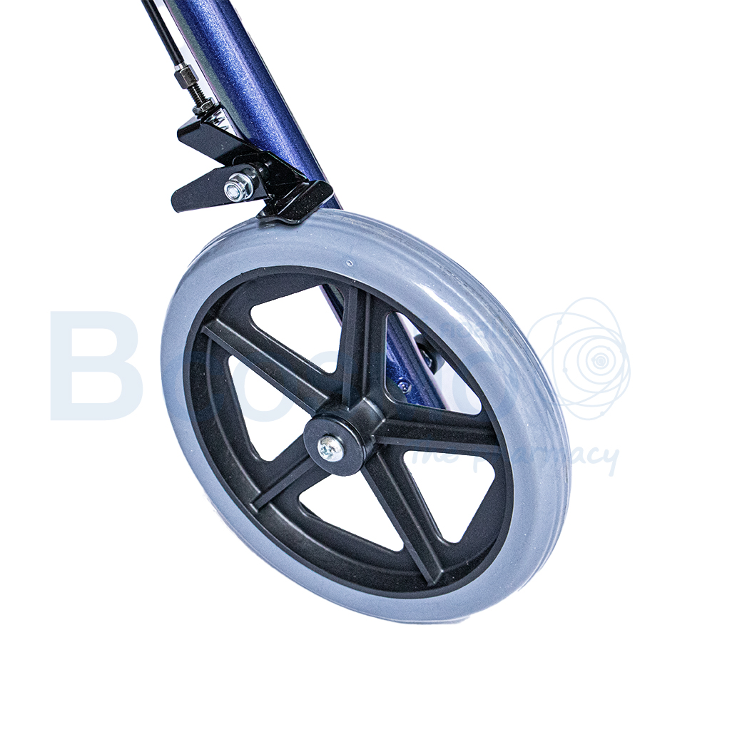 WC0408 BL Wheelchair Rollator รถเข็นหัดเดิน 2 in 1 ล้อ 8 นิ้วเบาะใหญ่ สีน้ำเงิน Y882LW 10