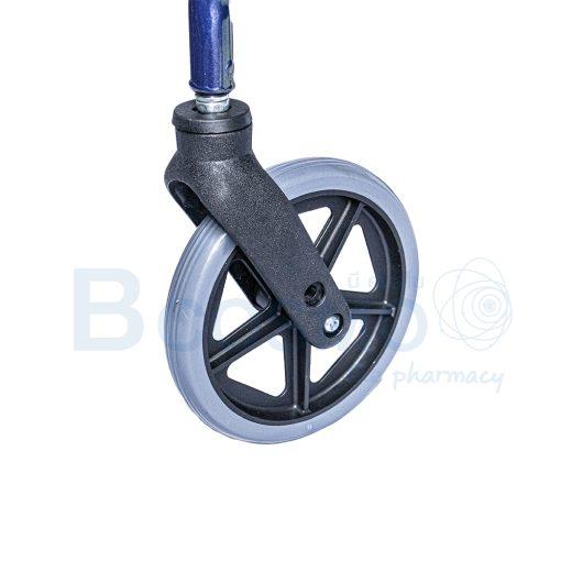 WC0408 BL Wheelchair Rollator รถเข็นหัดเดิน 2 in 1 ล้อ 8 นิ้วเบาะใหญ่ สีน้ำเงิน Y882LW 9