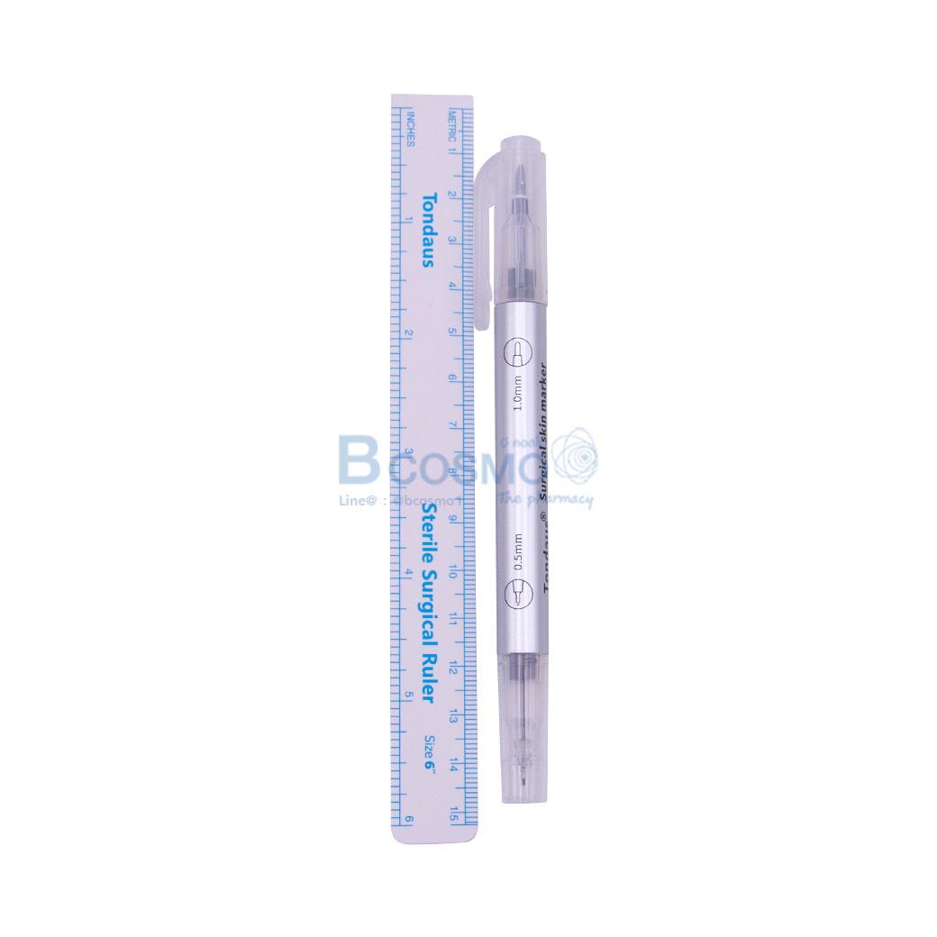 Sterile TONDAUS TD01 หมึกสีม่วง 2 หัว 0.5 1 mm. CN MT0402 VI 1 6