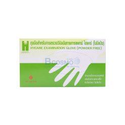 ถุงมือตรวจโรค HYCARE EXAMINATION GLOVE ไม่มีแป้ง SIZE S