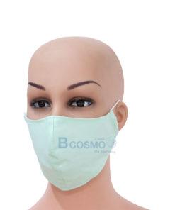 หน้ากากผ้า cotton 3 ชั้น คละสี