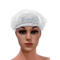 หมวกตัวหนอนสีขาว 100's 15 cm.