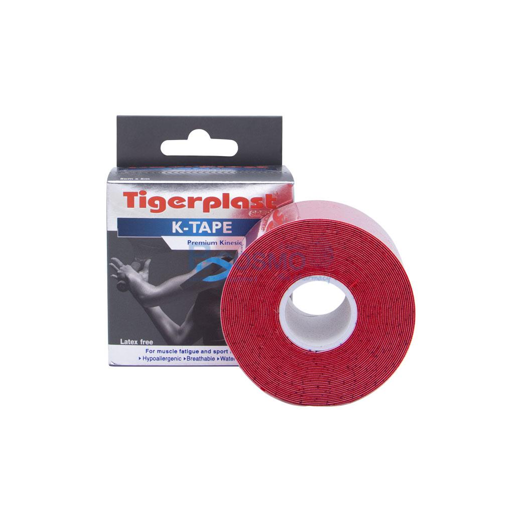 เทปพยุงกล้ามเนื้อ K TAPE TIGERPLAST SPORT สีแดง SIZE 5 cm.x5 mm. ES0401 R 10
