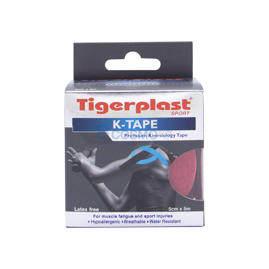 เทปพยุงกล้ามเนื้อ K TAPE TIGERPLAST SPORT สีแดง SIZE 5 cm.x5 mm. ES0401 R 12