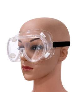แว่นครอบตากันฝุ่น กันสารเคมี ยางยืดสีขาว