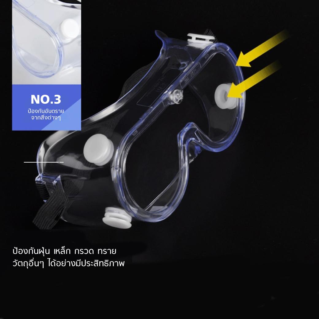 แว่นครอบตานิรภัย 3M 1621 ป้องกันสารเคมี MT0608 7