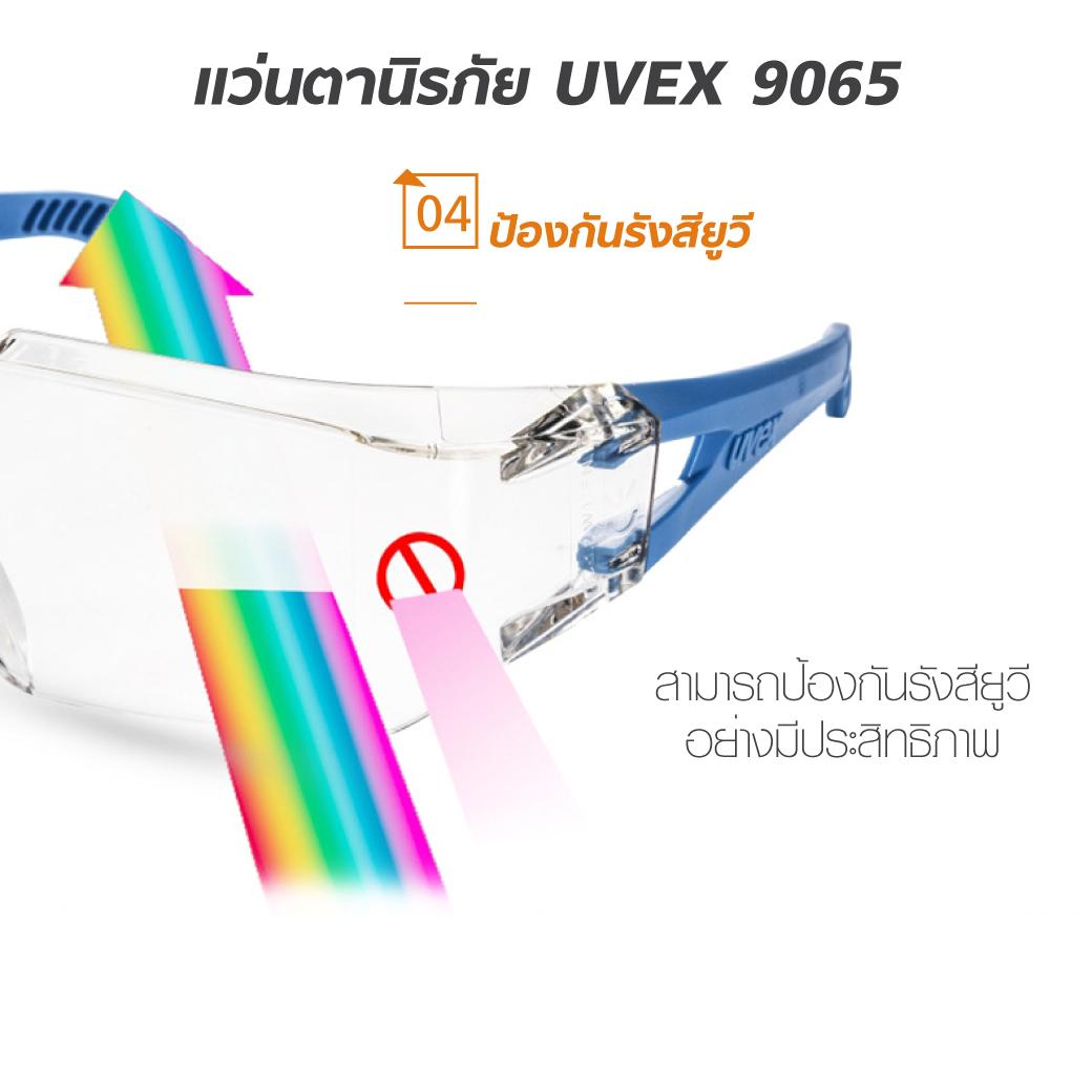 แว่นตานิรภัย UVEX 9065 ป้องกันฝุ่นละออง MT06104