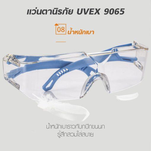 แว่นตานิรภัย UVEX 9065 ป้องกันฝุ่นละออง MT06108