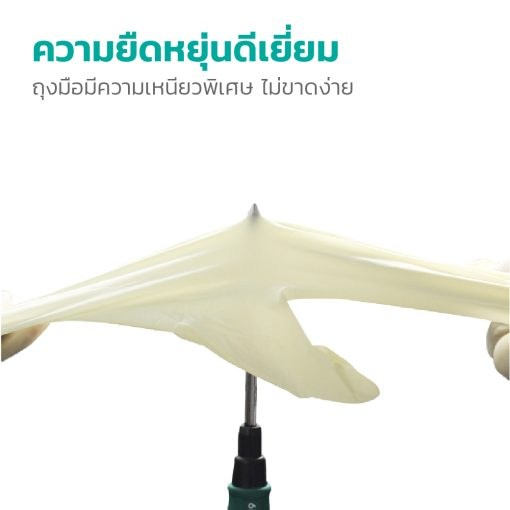 EF0729 M ถุงมือยาง 9 Disposable Exam Gloves 100s SIZE M 2