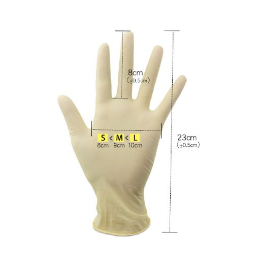 EF0729 M ถุงมือยาง 9 Disposable Exam Gloves 100s SIZE M 3