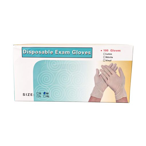 EF0729 M ถุงมือยาง 9 Disposable Exam Gloves 100s SIZE M 7