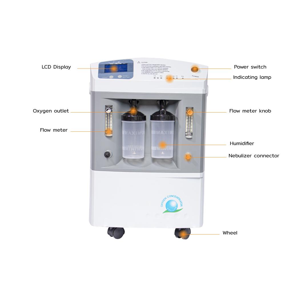 EO0005 10 เครื่องผลิตออกซิเจน LONGFIAN JAY 10 Dual flow 6 100