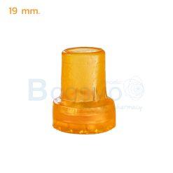 ลูกยางไม้เท้า 19 mm. สีส้ม
