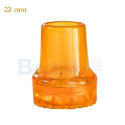 ลูกยางไม้เท้า 22 mm. สีส้ม