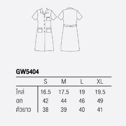 เสื้อกาวน์ GW5404 ตัวยาว-แขนสั้น Size – [  S | M | L | XL ]