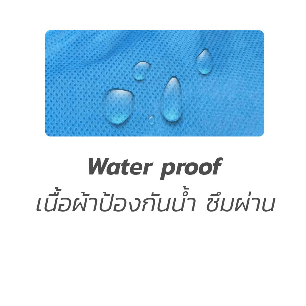 MT0435 M BL เสื้อกาวน์คอปก SMS กันน้ำสีฟ้า 6