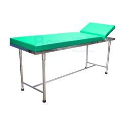 เตียงตรวจ สแตนเลส (เหลี่ยม) 60x200x80 cm.  สี – [ สีเขียว | สีส้ม | สีชมพู | สีขาว ]
