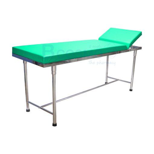 MT0801 GR เตียงตรวจโรค สแตนเลส เหลี่ยม สีเขียว 60x200x80 cm