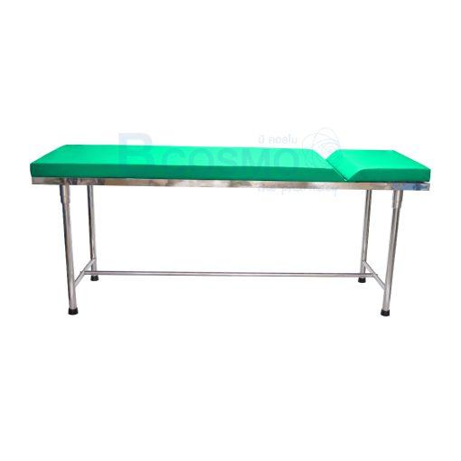 MT0801 GR เตียงตรวจโรค สแตนเลส เหลี่ยม สีเขียว 60x200x80 cm. 1