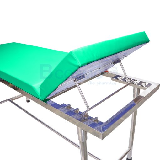 MT0801 GR เตียงตรวจโรค สแตนเลส เหลี่ยม สีเขียว 60x200x80 cm. 5
