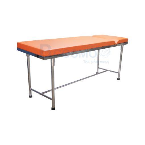 MT0801 OR เตียงตรวจโรค สแตนเลส เหลี่ยม สีส้ม 60x200x80 cm. 1