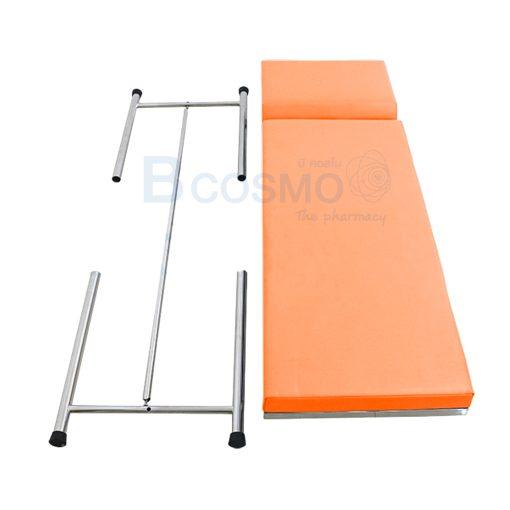 MT0801 OR เตียงตรวจโรค สแตนเลส เหลี่ยม สีส้ม 60x200x80 cm. 3