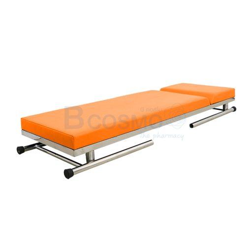 MT0801 OR เตียงตรวจโรค สแตนเลส เหลี่ยม สีส้ม 60x200x80 cm. 4