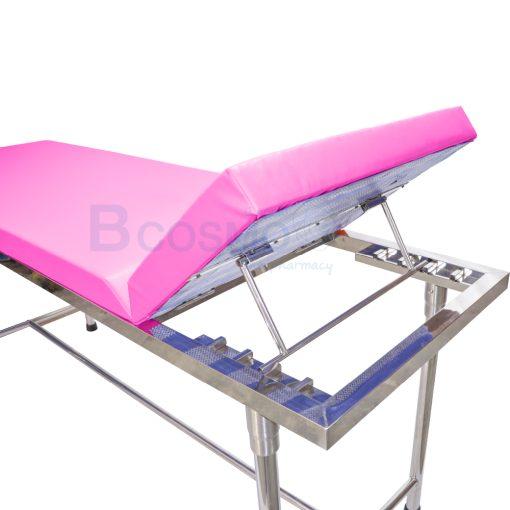 MT0801 P เตียงตรวจโรค สแตนเลส เหลี่ยม สีชมพู 60x200x80 cm. 5