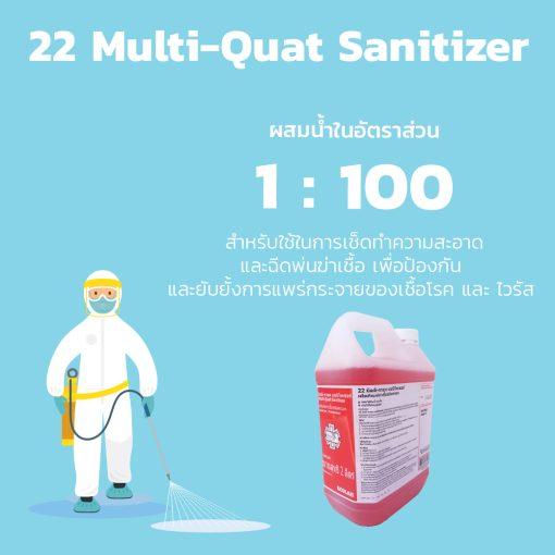 PA2811 22 มัลติ ควอทแซนิไทเซอร์ 22 Multi Quat Sanitizer 2 l. 1
