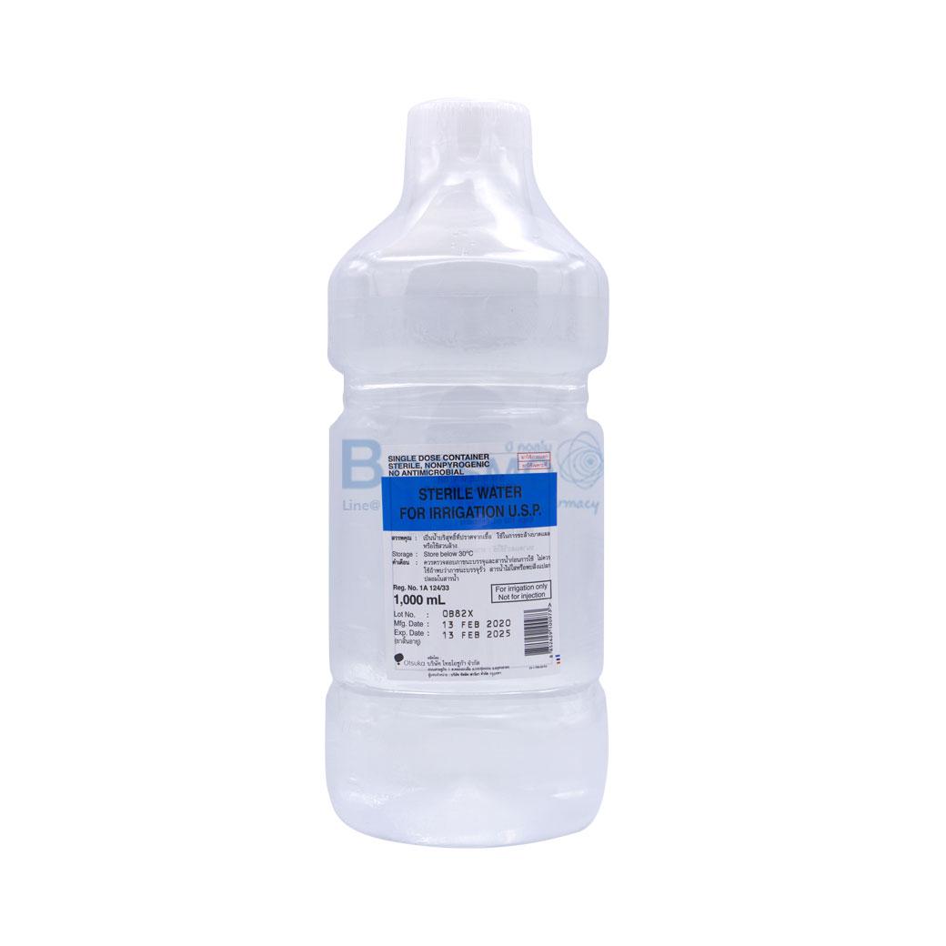 STERILE WATER FOR IRRIGATION ชนิดขวด 1000ML U.S.P. EF1302 1000 1