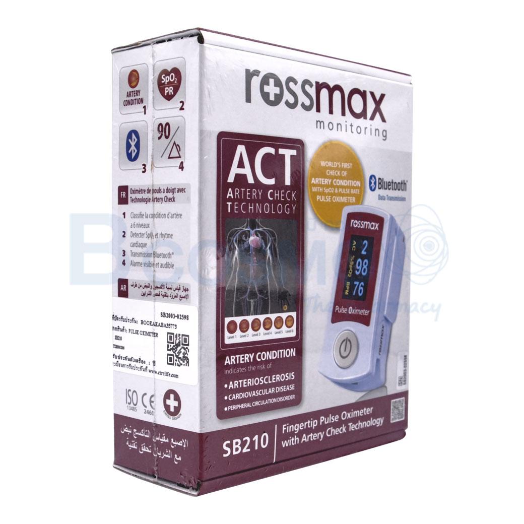 ROSSMAX BLUETOOTH Fingertip Pulse Oximeter SB210 ลายน้ำ3 OM0007
