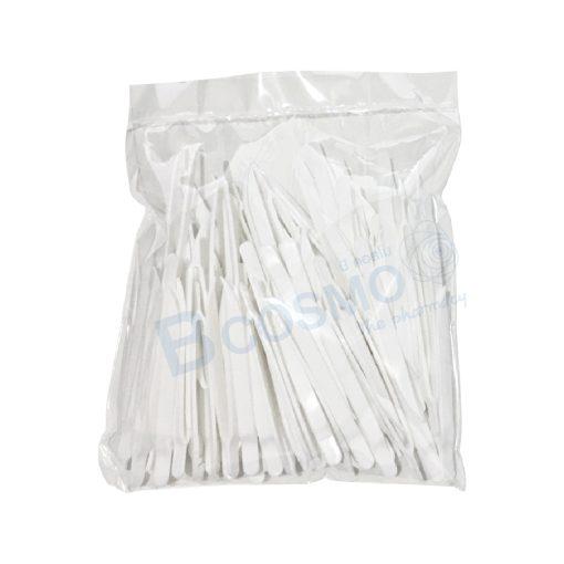 MT0079 7.5 ปากคีบพลาสติก 7.5 cm. สีขาว 100 S 3