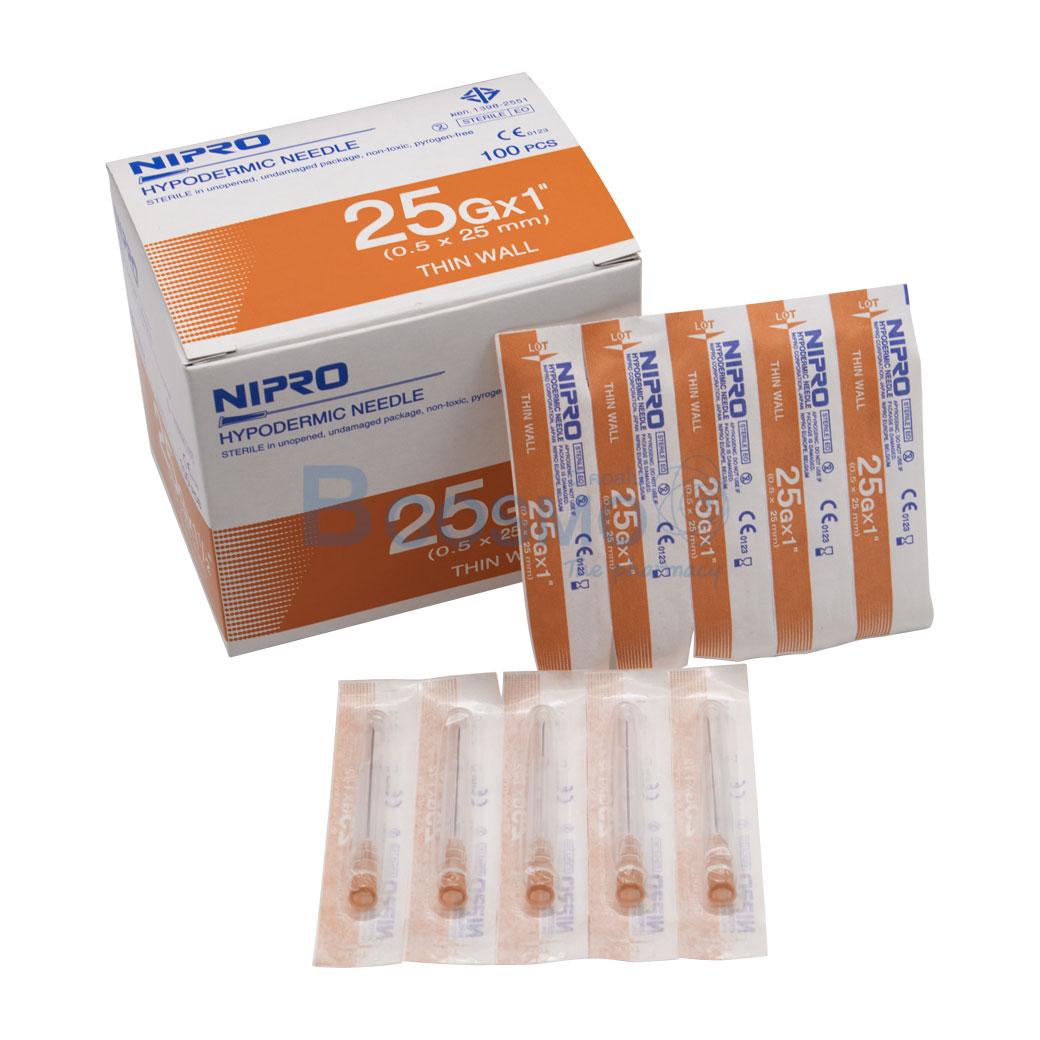 EF0903 25x1 เข็มฉีดยา NIPRO 25Gx1นิ้ว 1100 ชิ้น ลายน้ำ1