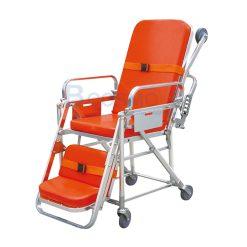 เตียงเข็นฉุกเฉินปรับนั่งได้ Stretcher สีส้ม