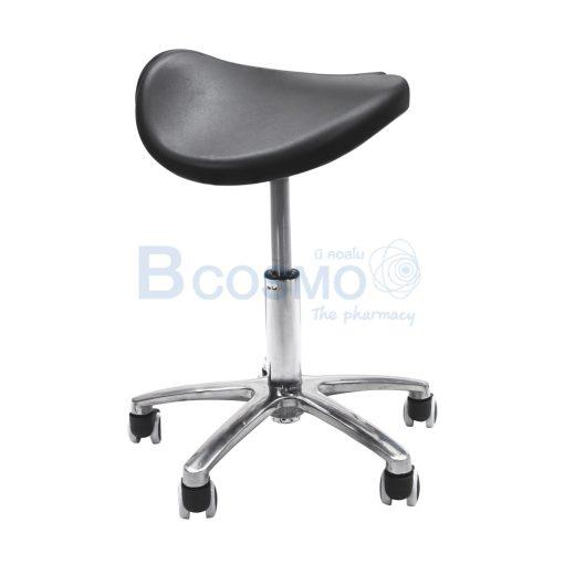 MT0323 B 1 เก้าอี้เบาะอานม้า มีร่อง แบบโช๊ค ฐาน 5 แฉก มีล้อ สีดำ C ลายน้ำ3