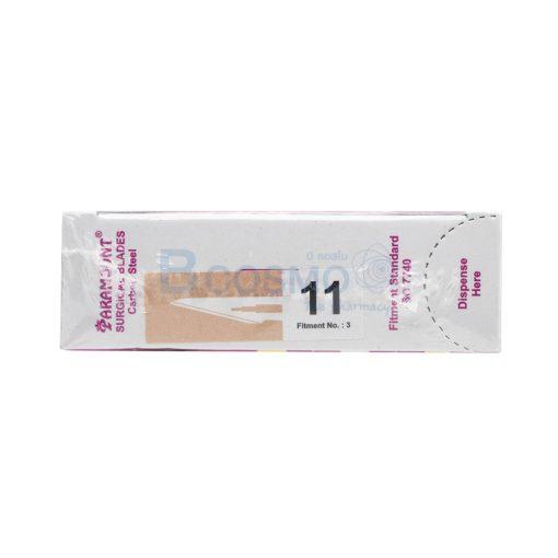 MT1006 11 ใบมีดผ่าตัด คาร์บอนสตีล PARAMOUNT เบอร์ 11 ลายน้ำ3