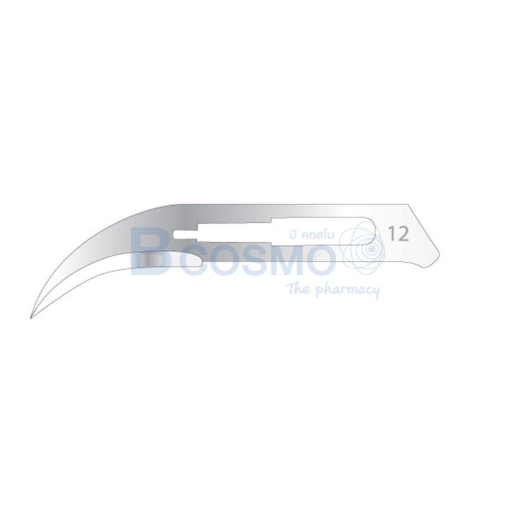 MT1006 12 ใบมีดผ่าตัด คาร์บอนสตีล PARAMOUNT เบอร์ 12 ลายน้ำ1