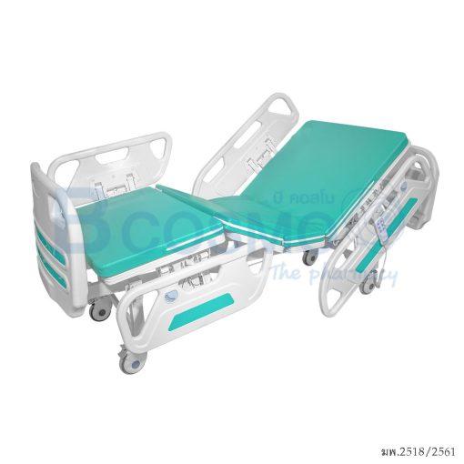 PB0114 GR เตียงผู้ป่วยไฟฟ้า 2 ไก YYY B01AB ราวปีกนก ลายน